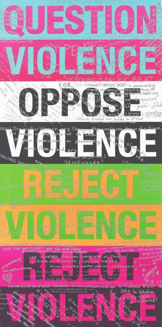 , 'Reject Violence Graffiti,' 2016, Vellum Projects