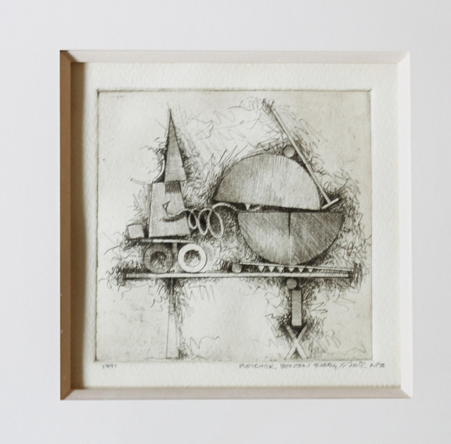 , 'CONSTRUCTIVIST ETCHING,' 1991, Alpha 137 Gallery