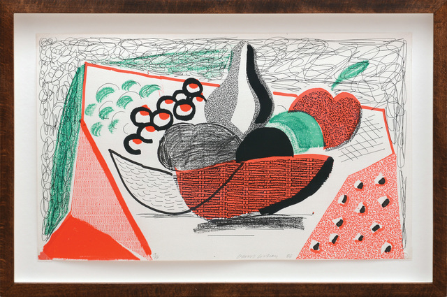 David Hockney, 'Apples, Pears and Grapes.', 1986, Print, Home made print executed on an office colour copier on 100% rag Arches Text 120 gsm paper., Peter Harrington Gallery