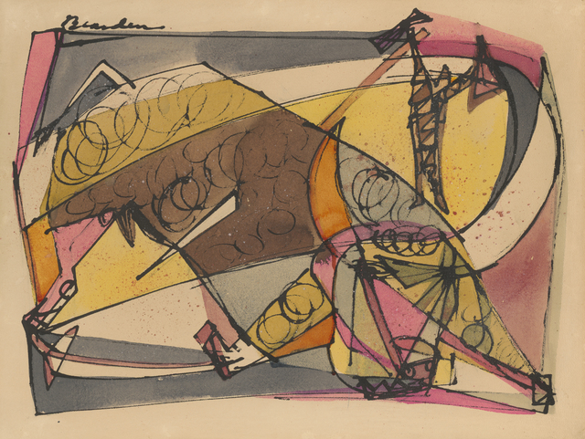 Romare Bearden, 'Weary of Treading the Earth ', 1946, Drawing, Collage or other Work on Paper, Ink and watercolor on paper, Dolan/Maxwell
