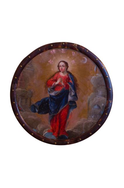 Unknown Artist, 'Virgen inmaculada (escudo de monja)', Siglo XVIII, Mario Uvence