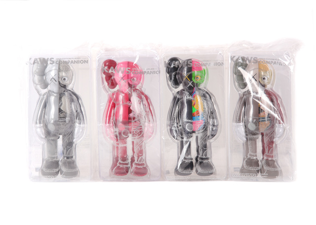 KAWS, 'Companion Open Edition', 2016, Sculpture, Full set of eight Companion figures in all four colourways, Chiswick Auctions