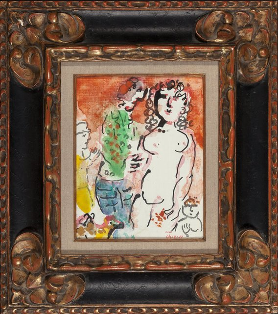 Marc Chagall, 'Autour de nu', circa 1982-83, Painting, Tempera and ink on masonite, Heritage Auctions