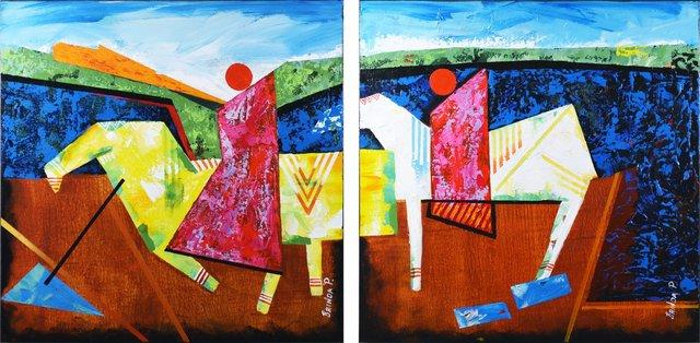 , 'Horse Riders ,' 2015, Venvi Art Gallery