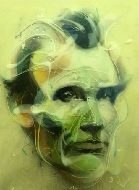Jongwang Lee, 'Lincoln 1860', 2014, Painting, Acrylic, oil, resin, and sumi ink on canvas over wood panel, Susan Eley Fine Art