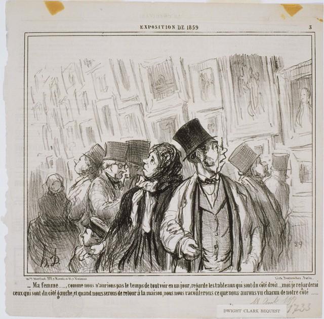 Honoré Daumier, 'Exposition de 1859: Ma Femme… Comme nous n'aurions pas...', 1859, Print, Lithograph on paper, Phillips Collection