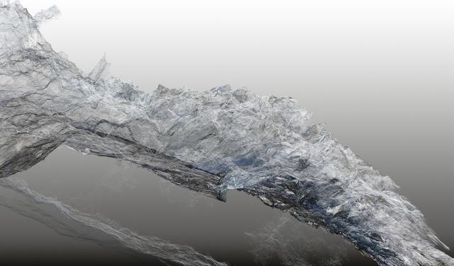 , 'Continuous Topography, Argentière glacier no. 07,' 2016, SCHEUBLEIN + BAK
