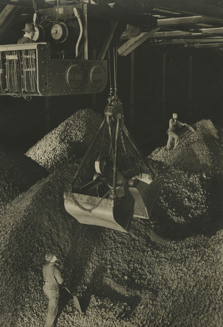 Margaret Bourke-White, 'Industrial scene, giant hopper', ca. 1930s, Photography, Toned gelatin silver print; printed c.1930s, Howard Greenberg Gallery
