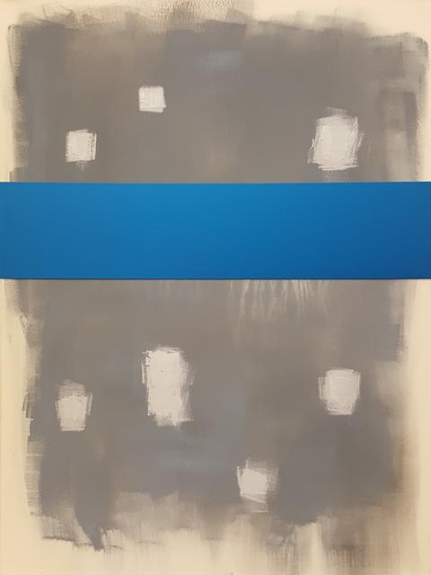 , 'Bild mit Banderole (blau),' 2017, Galerie Elisabeth & Klaus Thoman
