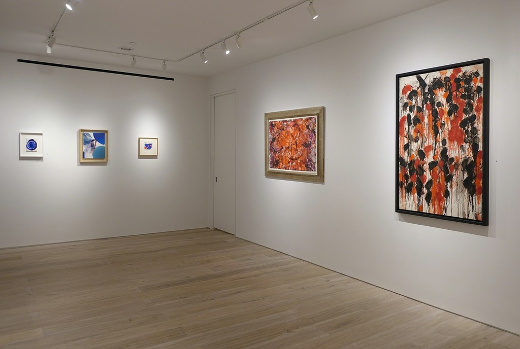 "Installation view - ""Between Tachisme and Abstract Expressionism: Bluhm, Francis, Jenkins"""