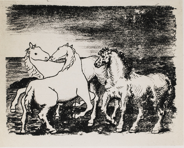 Pablo Picasso, 'Trois Chevaux Au Bord De La Mer (Three Horses At The Edge Of The Sea), 1949 Limited edition Lithograph by Pablo Picasso', 1949, Reproduction, Lithograph, White Cross