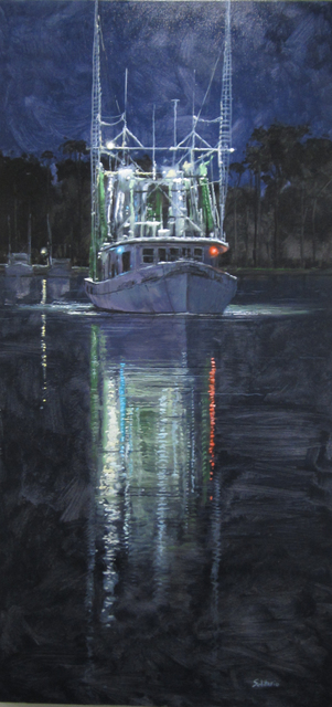 , 'Shrimp Boat Heading Out,' , LeMieux Galleries