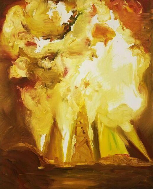 , 'Explosion, Yellow & White ,' 2009, The FLAG Art Foundation