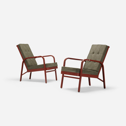 pair of armchairs for Martel de Janville Sanatorium, Plateau d'Assy