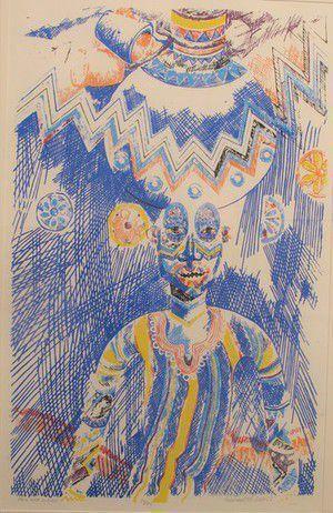 Wadsworth Jarrell, 'Palm Wine Man 50 Kobos', 1989, Jenkins Johnson Gallery
