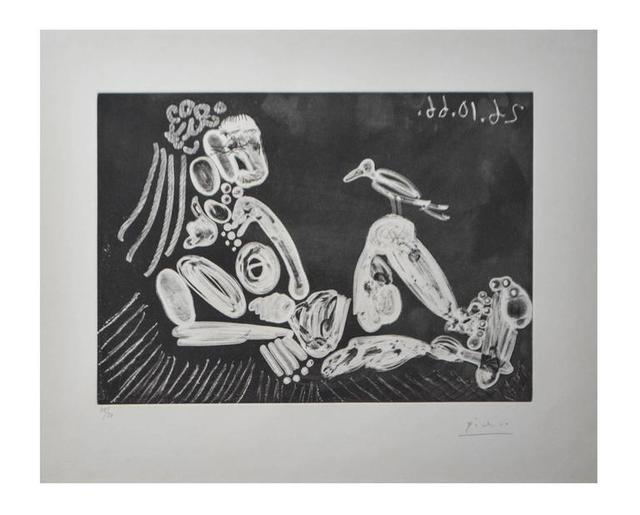 "Pablo Picasso, 'Rare Etching ""Woman and The Bird"" by Pablo Picasso', 1966, Galerie Philia"