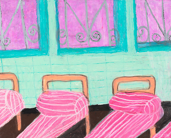 , 'Girls Dormitory When I First Went to The Hospital,' 2015, Creativity Explored