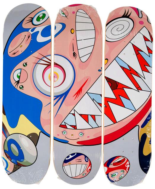 Takashi Murakami, 'Takashi Murakami DOB Skateboard Decks (Set of 3 Takashi Murakami skate decks)', 2018, Design/Decorative Art, Screenprint on 3 maplewood skateboard decks, Lot 180