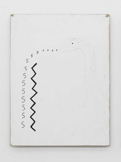 , 'Thoughts collected on the surface of a panel (snake speaking a pattern),' 2013, Supportico Lopez