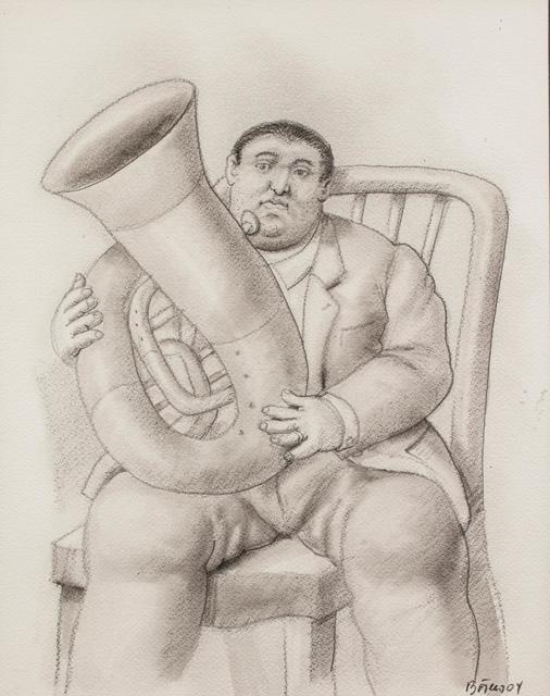 , 'Man playing the Tuba ,' 2004, Galería Duque Arango