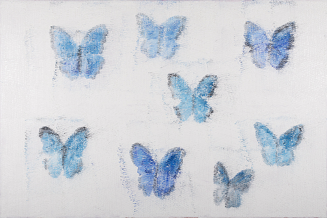 , 'Blue Morphos,' 2014, Quidley & Company