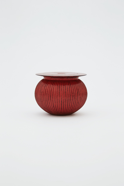 , 'Line carved tea caddy with flat lid, Negoro style,' 2016, Ippodo Gallery