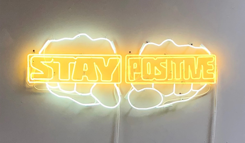 Derrick Adams, 'Stay Positive', 2018, Installation, Neon, LatchKey Gallery