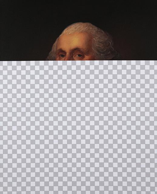 , 'Nothing Rhymes with Orange (George Washington, Erasure No. 5),' 2018, Modernism Inc.