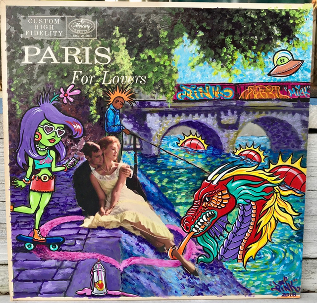 "LADY PINK, '""Paris is For Lovers""', 2018, McCaig-Welles"
