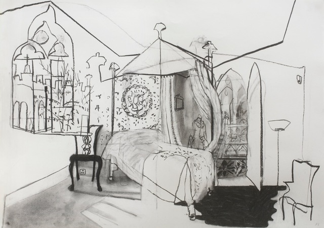 Katie Sollohub, 'The Blue Bedchamber (At Strawberry Hill House)', 2017, Candida Stevens Gallery