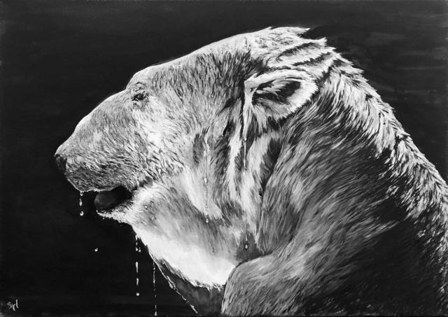 Sylvie Lescan, 'Ours polaire', 2019, Galerie Libre Est L'Art