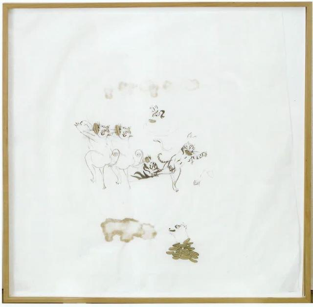 Ellen Gallagher, 'Untitled', 1996, Drawing, Collage or other Work on Paper, Ink, pencil, and paper collage on misu paper, Dranoff Fine Art