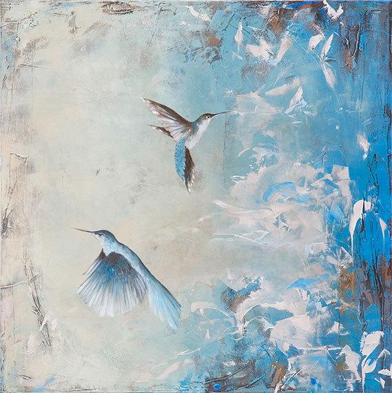 , 'Hummingbirds II,' , Sirona Fine Art