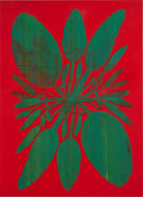 , 'Double Acrosticum (Vermilion),' 2014, Luhring Augustine
