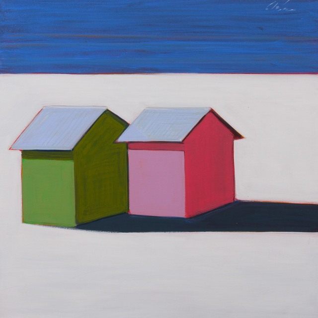 , 'Two Cottages in Pink & Green,' 2017, Caldwell Snyder Gallery