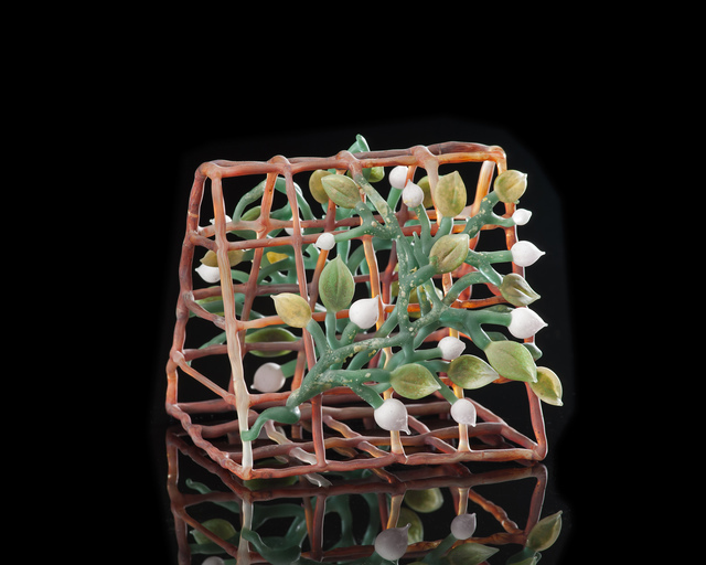 Kathleen Elliot, 'Pink Bud Trellis', 2014, Sculpture, Flameworked glass, HABATAT
