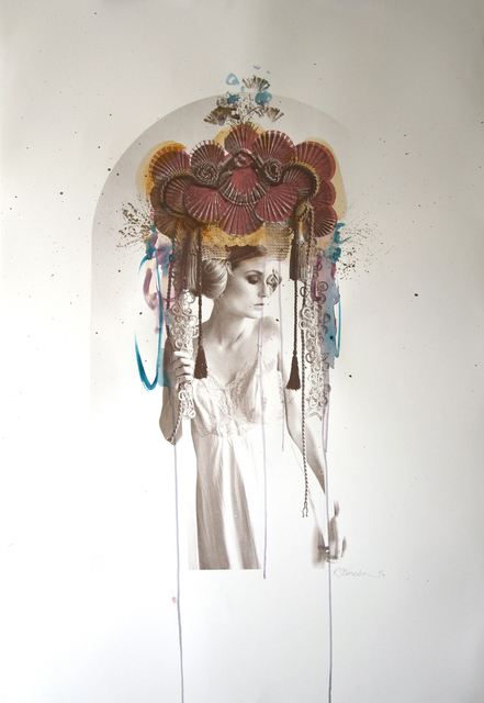 Rosie Emerson, 'Venus ', 2017, Drawing, Collage or other Work on Paper, Mixed media paint on screen print, DECORAZONgallery
