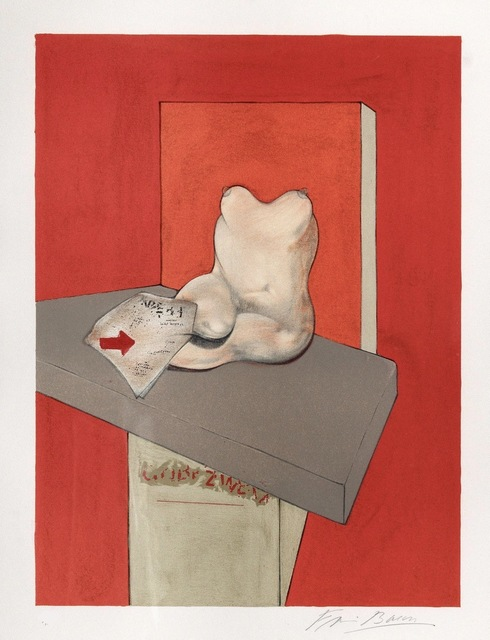 Francis Bacon, 'Study for the human body from a drawing by Ingres,', 1984, Kunzt Gallery