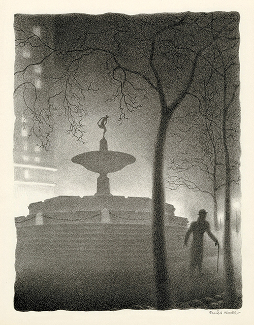 , 'Pulitzer Fountain, Evening,' ca. 1930, Keith Sheridan, LLC