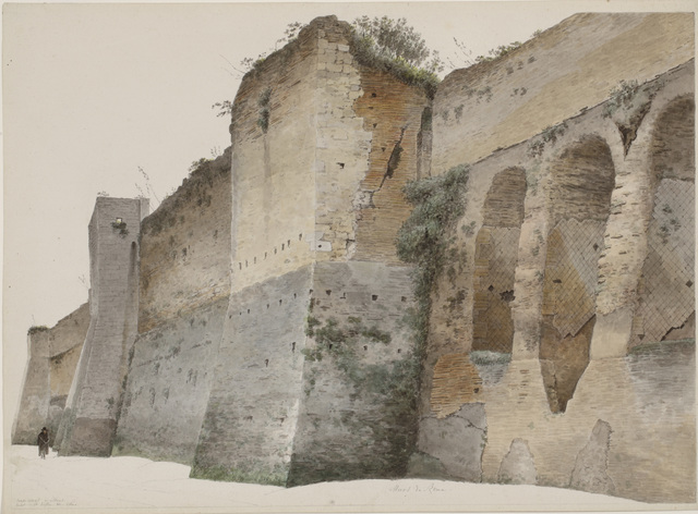 , 'The Aurelian Wall in Rome,' 1809-1812, Rijksmuseum