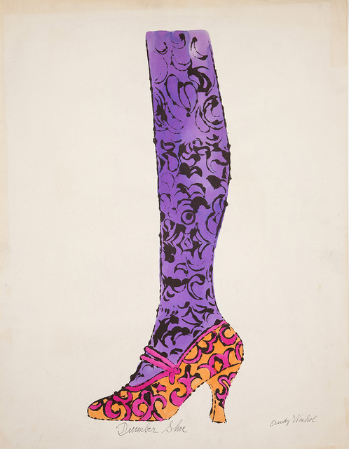 ", 'Shoe and Leg (""December Shoe""),' ca. 1956, Andy Warhol Museum"