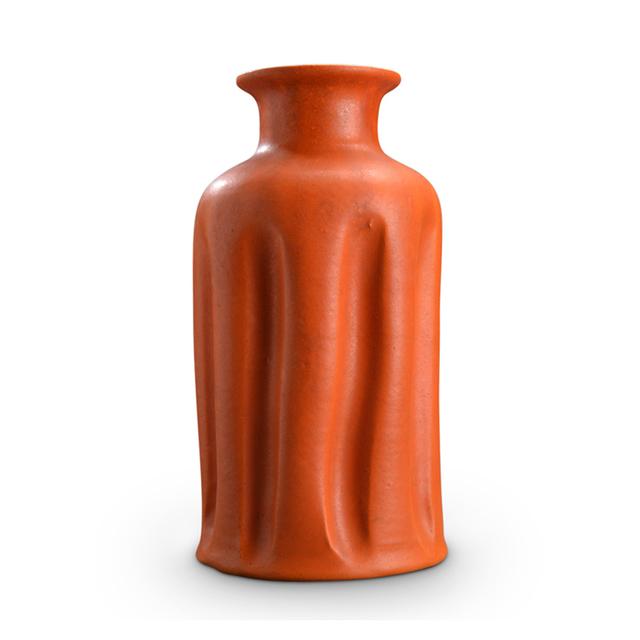 Kähler, 'Vase with folding sides glazed bright orange by Kähler', 1950, Gallery BAC
