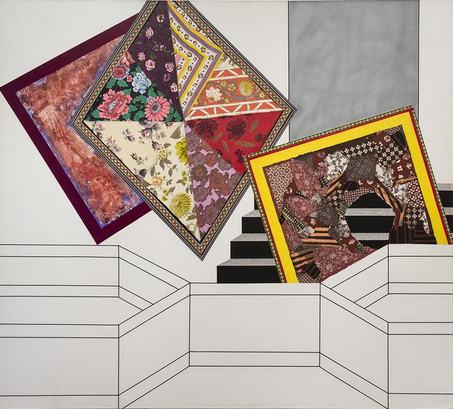 Miriam Schapiro, 'Lady Gengi's Maze', 1972, Painting, Acrylic and fabric on canvas, Eric Firestone Gallery