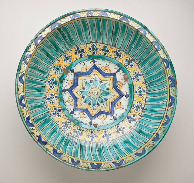 , 'Bowl with Eight-Pointed Star, Floral and Geometric Motifs,' late 18th century – early 19th century, Phoenix Art Museum