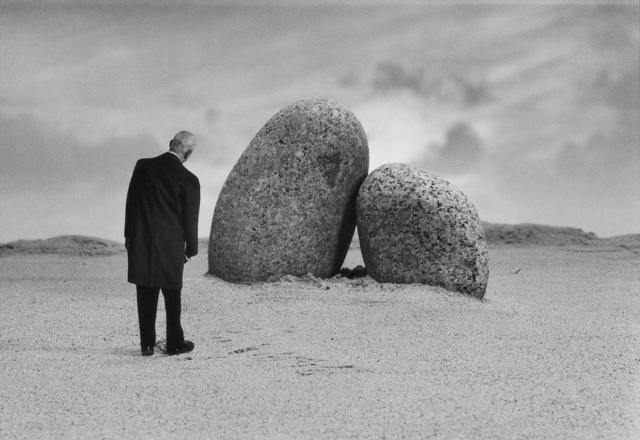 Gilbert Garcin, 'Les amoureux de Perros-Guirec - The Lovers of Perros-Guirec', 2001, Photography, Gelatin silver print, Stephen Bulger Gallery