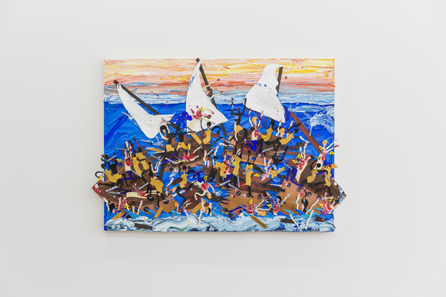 , 'I hope y'all brought some row boats or some pool floats with ya, cuz it's a long swim back to Africa,' 2018, V1 Gallery