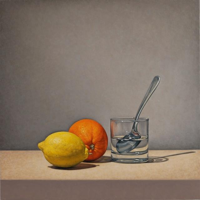 , 'Fruit and Spoon,' 2018, George Billis Gallery