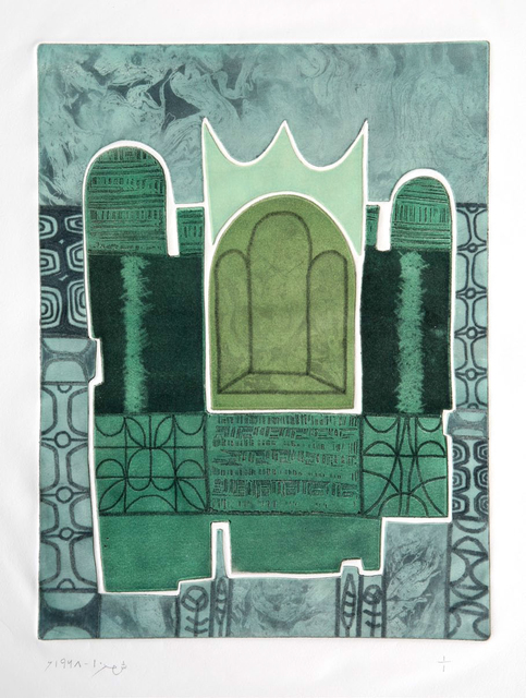 Anwar Jalal Shemza, 'Green Window', 1968, Jhaveri Contemporary