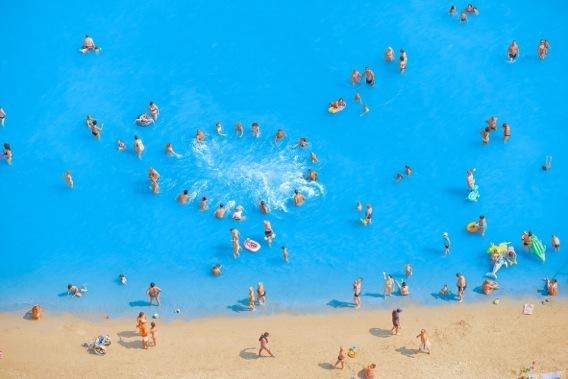Adriatic Seashore Landscape With Dancing People II