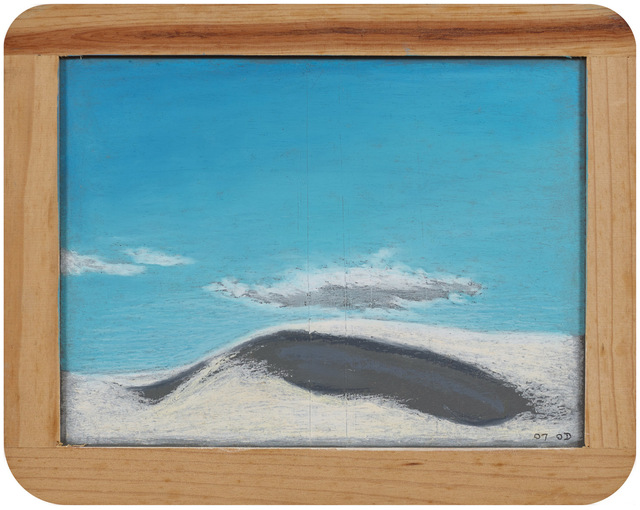 Myong Hi Kim, 'White Sand', 2007, Painting, Oil pastel on chalkboard, Art Projects International